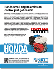 BlueCat SSI Honda Small Engine downloadable PDF brochure