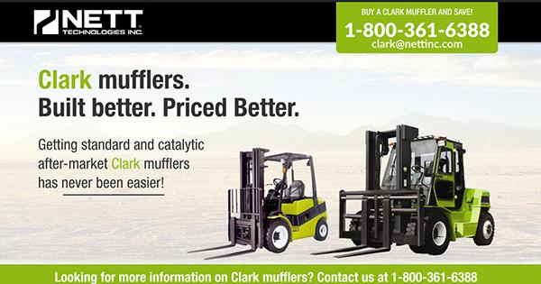 1754041 MUFFLER FOR CLARK C500 355 SERIES FORKLIFT PART