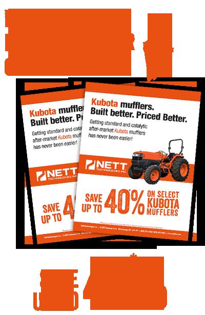 Kubota Mufflers  Built better  Priced better  | NETT