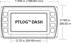Front Diagram of the PTLOG™ DASH display kit