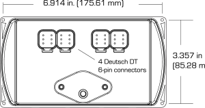 Back Diagram of the PTLOG™ DASH display kit